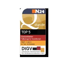 DtGV vergibt für die Stromtarife den 5. Platz in der Kategorie Konditionen