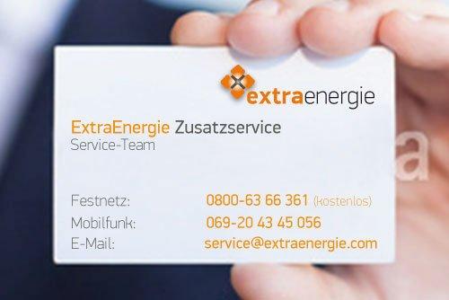 Rufen Sie uns an, wenn Sie den ExtraEnergie Zusatzservice abschließen möchten.